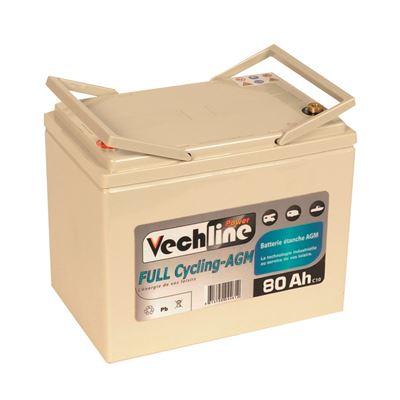 Batteria Vechline Full Cycling AGM 80 AH