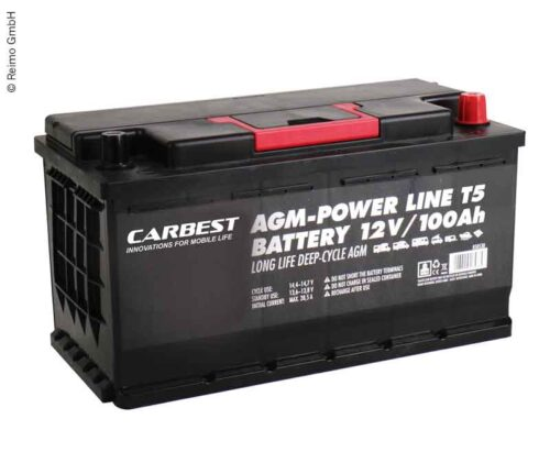 Batteria AGM 100Ah 353x175x190mm per T5 Carbest.