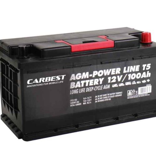 Batteria AGM 100Ah 353x175x190mm per T5 Carbest.