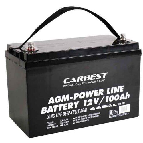 Batteria AGM 100Ah Carbest 330x171x220mm Carbest 330x171x220mm