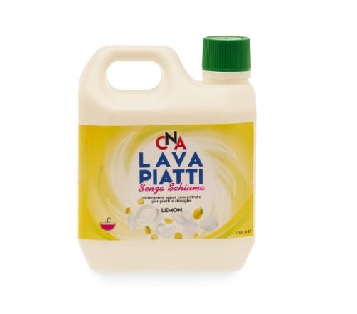 Lavapiatti senza schiuma formato da lt. 1 profumo LIMONE