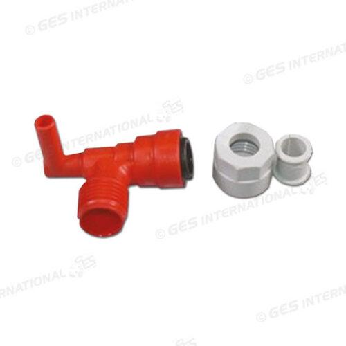Raccordo 90° rosso per boiler