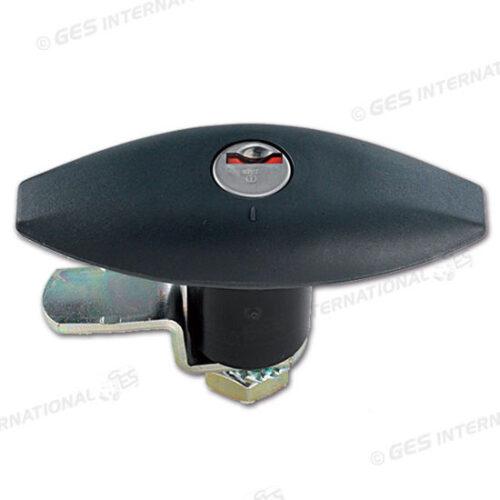 Serratura Push Zadi nera 110x41 mm con chiavi