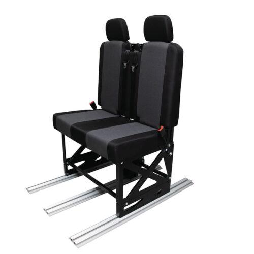 Tappezzeria per sedile e schienale con 2 poggiatesta