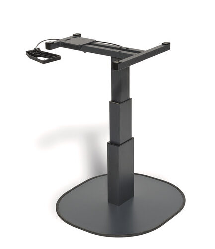 Tavolo elevatore a colonna singola CATCH antracite, H 337-700mm, raccordo girevole
