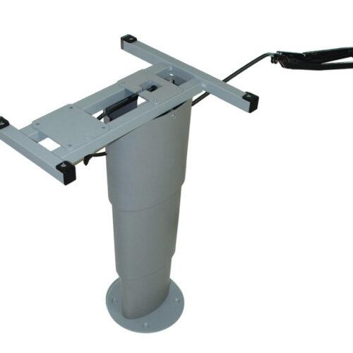 Tavolo elevatore monocolonna Primero Comfort, 325-685mm, grigio argento